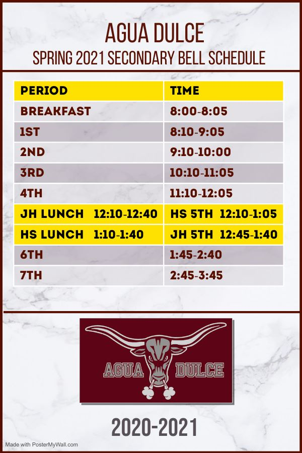 Secondary Bell Schedule